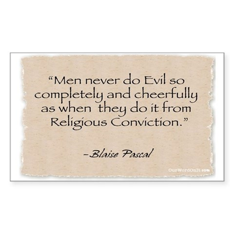 : Evil -Pascal Political Rectangle Sticker by CafePress