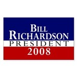 Bill Richardson: President Sticker (Rectangular)