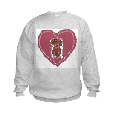 : Dachshund Love Dachshund Kids Sweatshirt by CafePress