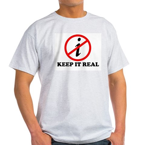 KEEP IT REAL T-SHIRT MATH SHI Ash Grey T-Shirt Math Light T-Shirt by CafePress