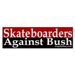 Skateboarders Against Bush (Sticker)