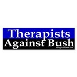 Therapists Against Bush (Bumper Sticker)