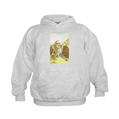 Alice with Animals  Vintage Kids Hoodie by CafePress