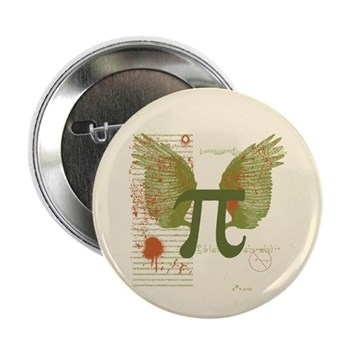 Winged Pi 2.25 Button (10 pack) | Gifts For A Geek | Geek T-Shirts