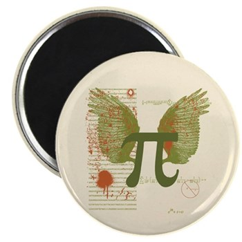 Winged Pi 2.25 Magnet (10 pack) | Gifts For A Geek | Geek T-Shirts