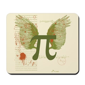 Winged Pi Mousepad | Gifts For A Geek | Geek T-Shirts