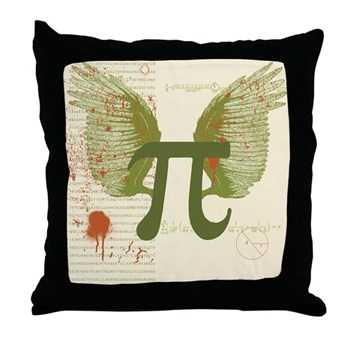 Winged Pi Throw Pillow | Gifts For A Geek | Geek T-Shirts