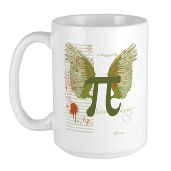 Winged Pi Large Mug | Gifts For A Geek | Geek T-Shirts