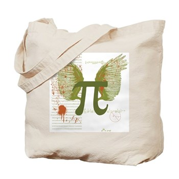 Winged Pi Tote Bag   Gifts For A Geek   Geek T-Shirts