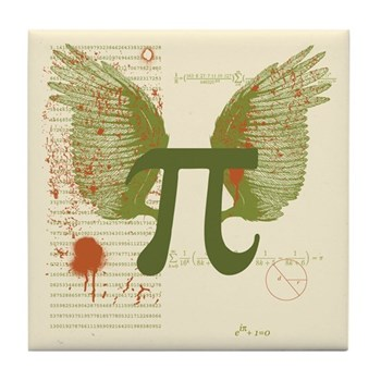 Winged Pi Tile Coaster | Gifts For A Geek | Geek T-Shirts