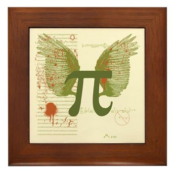 Winged Pi Framed Tile | Gifts For A Geek | Geek T-Shirts