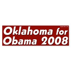 Oklahoma for Obama 2008 bumper sticker