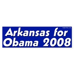 Arkansas for Obama 2008 bumper sticker