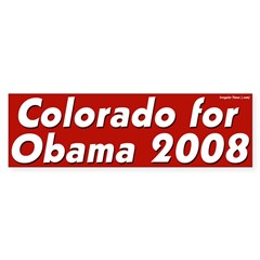 Colorado for Obama 2008 bumper sticker