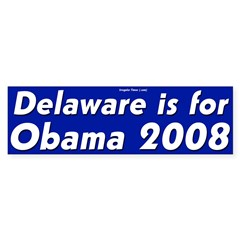 Delaware for Obama 2008 bumper sticker