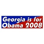 Georgia is for Obama 2008 bumper sticker