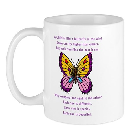 A Child Is Like a Butterfly - Autism Mug