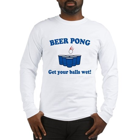 Beer Pong balls wet Long Sleeve T-Shirt