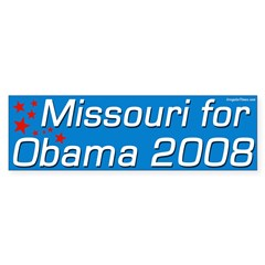 Missouri for Obama 08 Bumper Sticker