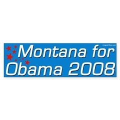 Montana for Obama 2008 bumper sticker