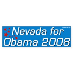 Nevada for Obama 2008 bumper sticker