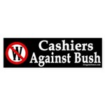 Cashiers Against Bush (bumper sticker)