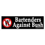 Bartenders Against Bush Sticker