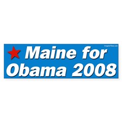Maine for Obama 2008 bumper sticker