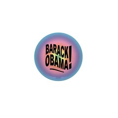 Barack Obama! Groovy Mini Button