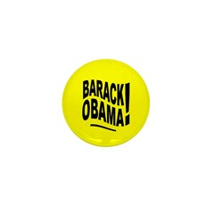 Barack Obama! Yellow Mini Button