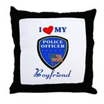 I Love My Police Officer Boyfriend Pillow!  Click to see this design on tshirts, gifts and more.......