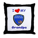 Love My Police Grandpa Throw Pillow