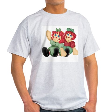 Raggedy Ann Andy Doll's Ash Grey T-Shirt Cute Light T-Shirt by CafePress