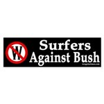 Surfers Against Bush (Bumper Sticker)