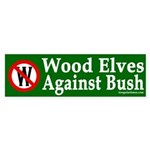 Wood Elves Against Bush (bumper sticker)