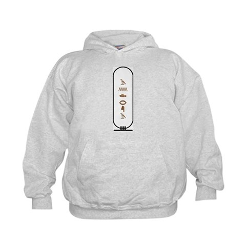 Andrea in Hieroglyphics Colo  Love Kids Hoodie by CafePress