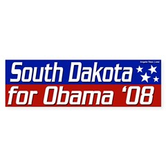 South Dakota for Obama 08 bumper sticker