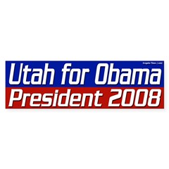 Utah for Obama in 2008 bumper sticker