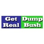 Get Real Dump Bush Bumper Sticker