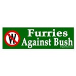 Furries Against Bush (Bumper Sticker)