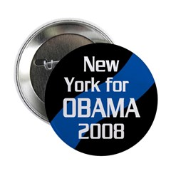 New York for Obama 2008 button