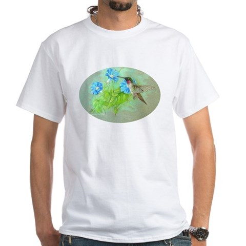 Hummingbird Hummingbird White T-Shirt by CafePress