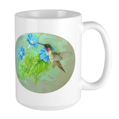 Mug large Hummingbird Hummingbird Large Mug by CafePress