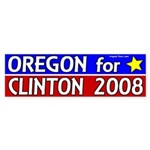 Oregon for Clinton 2008 bumper sticker