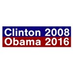 Clinton 2008, Obama 2016 bumper sticker
