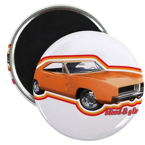 Blood and Glory, Dodge Charge 2.25 Magnet 100 pa Vintage 2.25 Magnet 100 pack by CafePress