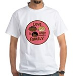 love makes biracial parents 2  gi White T-Shirt