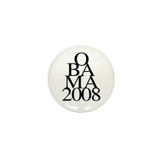 Layers: Obama 2008 Mini Button (10 pack)