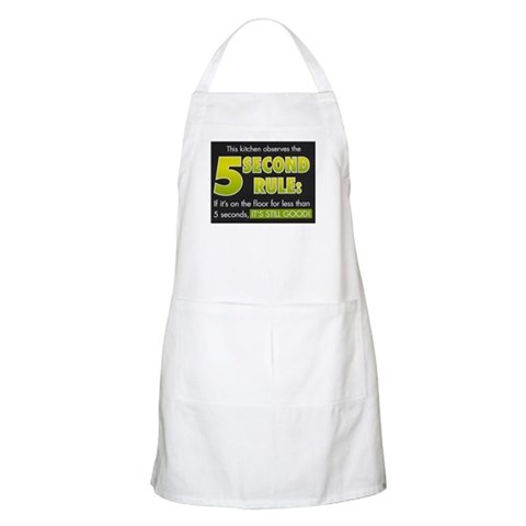 5 second rule BBQ  Humor Apron by CafePress