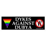 Dykes Against Dubya (bumper sticker)